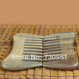 Wholesale Wooden Hairbrushes - Wholesale-Factory wholesale engravable gifts Whole wood Sessile wide tooth Green sandalwood Combs antique wooden Pure handmade hairbrush