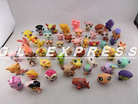 Wholesale-2015 Lot 20 PCS Littlest Pet Shop Cat Dog Figuras de animais Ramdon Girl Boy Toys Gift