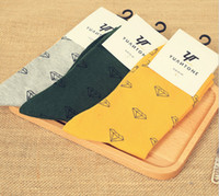Wholesale Wholesale Socks For Business - Wholesale-Men's Business Cotton Knee Socks Simple Diamond and Snowflake Jacquard Casual Socks for men 250w