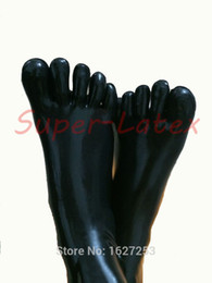 Wholesale Latex Rubber Socks - Wholesale-Free Shipping ! Latex rubber socks unisex rubber socks five toes socks
