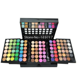 Wholesale Eye Shadow Palette 96 - Wholesale-Professional 3 Layer Design 96 Full Pigment Color Eyeshadow Makeup Eye Shadow Palette
