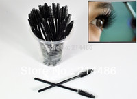 Wholesale Mini Mascara - Wholesale-100 PCS Disposable Eyelash Mini Brush Mascara Wands Applicator Spoolers Makeup DropShipping