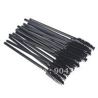 Wholesale Mascara Comb Brush - Wholesale-100PCS Cosmetic brush eyelash brush eyelash comb eyebrow brush eyebrow comb elbow disposable mascara brush