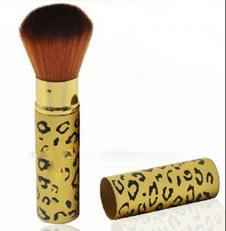 Wholesale Lady Goats - Wholesale-2pcs Fashion Lady Leopard Soft Face Cheek Powder Makeup Cosmetic Foundation Pen Blush Free shipping & Drop Shipping