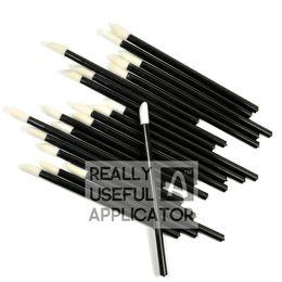 $enCountryForm.capitalKeyWord NZ - Wholesale-200 pcs Disposable Lipbrush Lip Gloss Brush Wands Lipstick Gloss Applicators Cosmetic Sponge Free Shipping Make Up Tool RUA LA