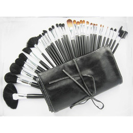 Wholesale Cheap Professional Makeup Cases - Wholesale-Professional Cheap Makeup Brushes 32 PCS Cosmetic Brand Brushes Set Kit Case Free Shipping M Makeup