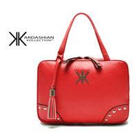 Wholesale Kardashian Kollection Sale - Wholesale-2015 New fashion hot sale women kk kardashian kollection bag plaid rivet leather handbag women messenger bag famous brand clutch
