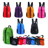 mochila de caminhada de nylon venda por atacado-Atacado-Outdoor Sports Caminhadas À Prova D 'Água Mochila De Nylon Dobrável Daypack Mochila 30L 1PAA
