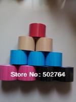 Wholesale Kinesio Tape Waterproof - Wholesale-5cm x 5m Kinesio tape Sports Kinesiology Muscle Care bandage, waterproof elastic cotton+medical glue