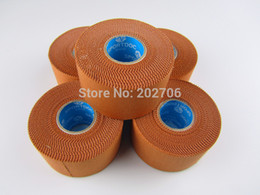 Wholesale Rigid Strap - Wholesale-3.8cm*13m rigid tape Sports Protect Rigid Sports Tape Strapping Tape Viscose Rigid Tape Leukotape 3rolls lot