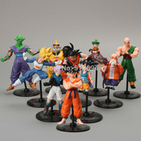 Wholesale Master Roshi Figure - Wholesale-Anime Dragon Ball Z Gohu Master Roshi Piccolo Tenshinhan Gohan Trunks PVC Figure Toys For Kids 10pcs set DBFG151