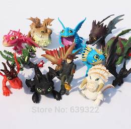 Wholesale Mario Dolls - Wholesale-13pcs set How to train your dragon 2 Action Figure Toys Hiccup Toothless Skull Gronckle Deadly Nadder Dragon Figure Dolls