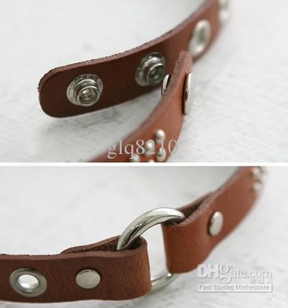 Heiße Verkaufs-Art- und Weisenniet-Leder-Armband-Weinlese Rsonalized nagelneues / der Entwurfs-Frauen