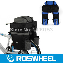 Wholesale Cycling Rear Bag - Wholesale-2Fashion ROSWHEEL Long-Distance Travel Bike Bicycle Rear Seat Bag 67L Capacity Cycling Touring Panniers Backpack With Rain Cover
