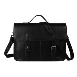 7127965a0320 Wholesale- Hot Sale Men and Women Briefcase Fashion Men Messenger Bags  Leather Handbags Bussiness Shoulder Bag 3 Colors