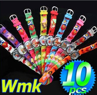 Wholesale Winx Watch Wholesale - Wholesale-FREE SHIPPING! 10PCS Winx club Girl's 3D Watches , Xmas Gift