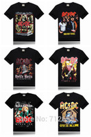 dc metals venda por atacado-Atacado-Ac Dc Marca 3D Men T-shirt de metal banda de Rock impressão Stage camiseta Slim Fitness hip hop camiseta tamanho S-XXXL frete grátis