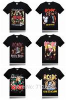 ac dc t-shirt achat en gros de-Gros-Ac Dc Marque 3D Hommes T-shirt Métal Rock Band Impression Étape T-shirt Slim Fitness hip hop t-shirt Taille S-XXXL Livraison Gratuite