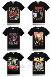 stage shorts Coupons - Wholesale-Ac Dc Brand 3D Men T-shirt Metal Rock Band Printing Stage Tee Shirt Slim Fitness hip hop t shirt Size S-XXXL Free Shipping