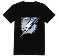 Wholesale Men Slim Fit Tee Cheap - Wholesale-NHL Tampa Bay Summer New T-shirt For Men Mans T Shirt O neck Short Sleeve Shirt Slim Fit Tees Colorful Casual Design Cheap Sale