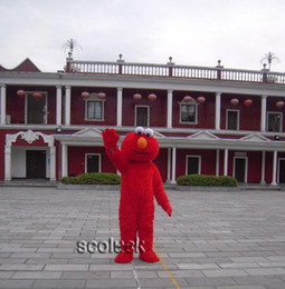 2019 disfraz de totoro vecino Solo a la venta !! Traje de mascota de dibujos animados de Elmo Monster de Street para fiesta navideña