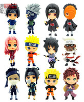 Wholesale Naruto Figure Kakashi - Wholesale-12pcs cute Naruto figures Anime Naruto Sasuke Hatake Kakashi doll
