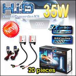 Wholesale Kit Xenon Usa - NEW 20PCS USA UK !!! 35W SINGLE BEAM H1 H7 HID CONVERSION XENON KITS NORMAL BALLASTS FLOURISH BRAND