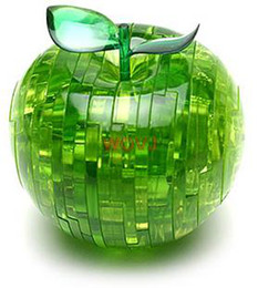 Wholesale Crystal Puzzle Green Apple - Wholesale-Kids Toys 3D Crystal Puzzle - Green Apple Learning & Education For Children Free Shipping
