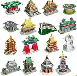 Wholesale 3d Puzzle Card Models - Wholesale-DIY Models,Home Adornment 3D puzzle Famous Build models set (16pcs),Paper craft,racing Card model