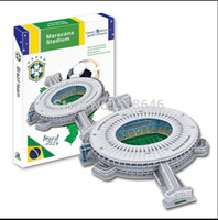 Wholesale Soccer Puzzles - Wholesale-Soccer Field Puzzle Clever Series Brasil Cup Home Field Maracana Stadium Puzzle three Diemensional Educational Kids Gift