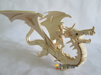Wholesale 3d Puzzle Construction - Wholesale-New fancy Intelligent educational toy 3D animal model WOODEN PUZZLE DIY WOODCRAFT CONSTRUCTION KIT handmade Flying Dragon G-M042