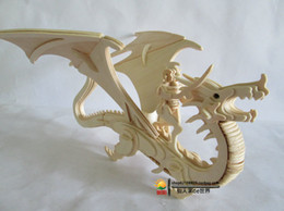 Wholesale Construction Model Kits - Wholesale-New fancy Intelligent educational toy 3D animal model WOODEN PUZZLE DIY WOODCRAFT CONSTRUCTION KIT handmade Flying Dragon G-M042