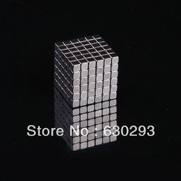 Wholesale Bucky Cubes - Wholesale-5MM 6x6x6 216 LOT Silver Buckycubes Bucky cubes Neocube Buckyballs Neodymium Magnet Square cube