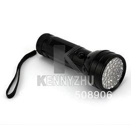 Wholesale Glue Aluminum - Wholesale-Portable UV Ultra Violet Light 51 LED Flashlight Glue Curing Light Torch Lamp Aluminum Alloy Black Free Shipping