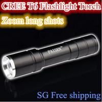 Wholesale Led Flashlights Imported - Wholesale-Free Shipping MINI CREE Import T6 Flashlight Torch 5-modes CREE LED 2000Lms Waterproof Flashlight Lanterns Lamp In Stock