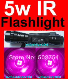 Wholesale Ultrafire Infrared Ir - Wholesale-P60 Ultrafire 501B 5W 850nm Infrared Radiation IR LED Night Vision Flashlight