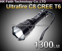 Gros-UltraFire C8 CREE XM-L T6 Ampoule LED 1300LM 5 Modes 18650 Camping torche
