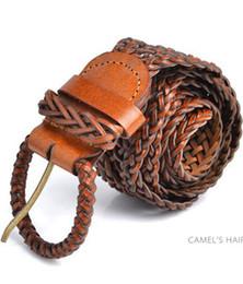 Wholesale Lady Jeans Belt - Wholesale-womens braided belts for ladies dress,womens genuine leather belt,western cow leather braided strape jeans, real leather belts