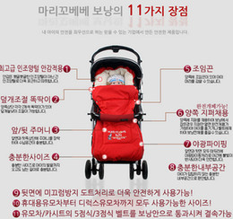 Wholesale Stroller Children Baby - Wholesale-Baby Sleeping Bags Winter Newborn Envelope Blanket Children Sleepsacks in Stroller Infant Fleabag