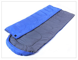 Wholesale Goose Camps - Wholesale-Envelope 210*75CM Outdoor Hiking sleep bag for Camping sleeping bag amygreen navyblue