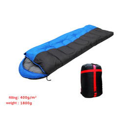Wholesale Temperature Adults Free - Wholesale-Thick cotton autumn winter outdoor camping 5 degree temperature cold resistant adult sleeping bag Joinable design free shipping