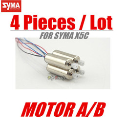 Wholesale Helicopter Gears - Wholesale-SYMA X5C X5 Spare Part Motor Engine A B 4 pcs Motors with Wheel Gear For RC Quadcopter Helicopter Drone Accessories Spare Parts