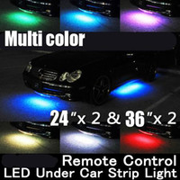 Wholesale Amber Glow - Hot Sale Brand New Wireless Remote Multi-color Under Car LED Glow Neon Light Kit (2*36