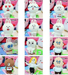 Wholesale Doll Line Brown - Wholesale-Line IN town toys Brown Bear Cony Rabbit Animal Stuffed Plush Fashion Stuffed Doll baby toy