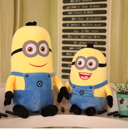Wholesale Minions Stuff For Kids - Wholesale-Free shipping Hot Plush Toy Minions Dispicable Me 2 TV Movie Minion Stuffed Cartoon Doll Toys for Kids Birthday gifts