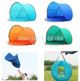 Wholesale Outdoor Pop - Wholesale-Automatic Pop Up 1-2 Person Beach UV sun shade Outdoor Camping Tourism Folding Awnings Fishing Tent waterproof Bivvy awning