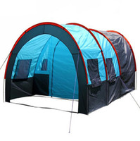 Wholesale Large Tents For Camping - Wholesale-Outdoor camping for 5-8 person family tent camping tent A large family room and two living tents 2015 new outdoor rain barraca