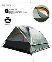 Wholesale Camping Tents Water Proof - Wholesale-Free shipping Double Layer 4 persons Automatic Opening Camping Tents 2color Water Proof Four Seasons Tourist Accept Wholesale