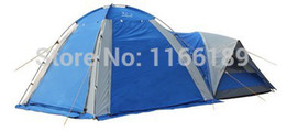 Wholesale Large Tents For Camping - Wholesale-2015 New Big 1hall 1room 5-8 persons large family party Camping tent Double Layer for outdoor Shade use 3doors
