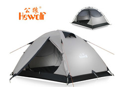 Wholesale Canvas Pole Tent - Wholesale-Free Shipping Outdoor camping tent double layer double pole tent outdoor waterproof tent